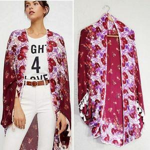 Free People Bali Wrapped In Blooms Shawl Kimono